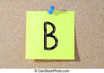 B grade written on a test paper.