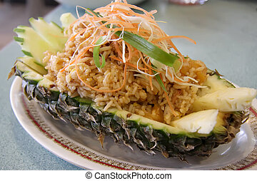 Pineapple rice - Pineapple fried rice traditional thai...