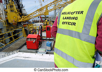 "Helicopter landing officer - ""Clear to land"" must be..."