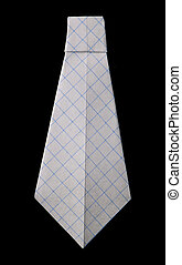 Tie folded origami style - Isolated tie folded origami style