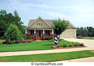 new home for sale - photographed new home for sale in rural...