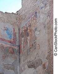 Roman mural cover on Egyptian relief
