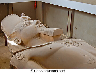 Statue of Ramses II in open air museum of Memphis, Egypt