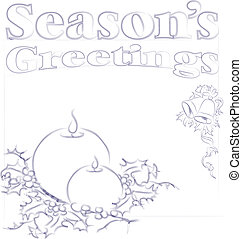 Christmas Card Design - Abstract vector illustration of a...