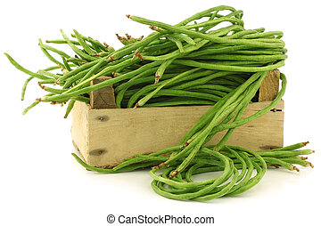 fresh long beansVigna unguiculata subsp sesquipedalis in a...