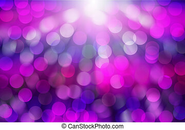 Purple blur bokeh with light ray abstract background