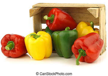 red,yellow and green bell peppers