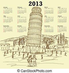 leaning tower of pisa 2013 vintage