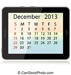 december 2013 calendar - illustration of december 2013...