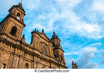 Bogota Cathedral Front - The front of the cathedral in...
