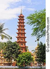 pagode, Tran, Quoc, Templo
