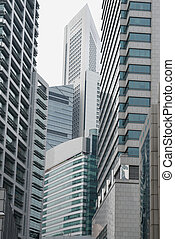 Modern asphalt jungle - Cramped modern skyscraper...