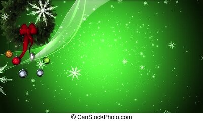 Christmas Mix - A mixture of Christmas elements against a...