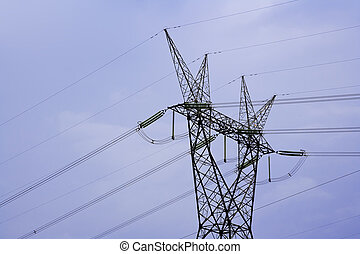 Power Lines - Electricity pylon and power lines