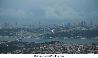 Istanbul Time Lapse - Storm Clouds on the Istanbul with...