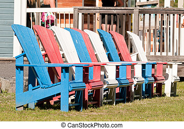 Colorful Muskoka chairs