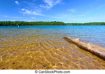 Wisconsin Northwoods Swimming Beach - Beautiful swimming...