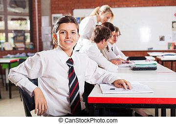 cute female high school student