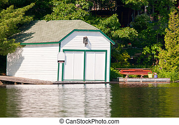 White boathouse