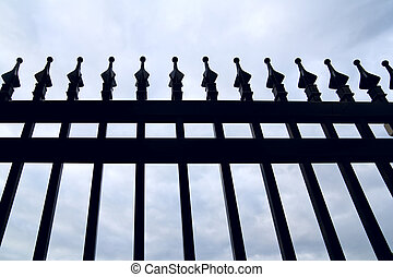 Wrought-iron fence