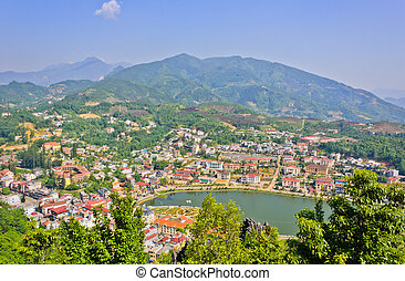 Sapa lake and town