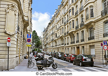 Lane in the center of Paris France