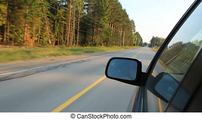 Drive in the country - Summer drive in Haliburton, Ontario,...