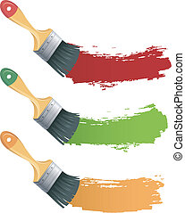 Set of colorful Paint brush - Vector illustration of Set of...