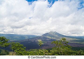 Kintamani active volcano on the Bali island