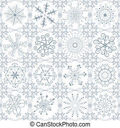 Christmas silvery repeating pattern - Christmas silvery...
