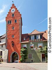 Meersburg, Germany - Meersburg -the fortified city on the...