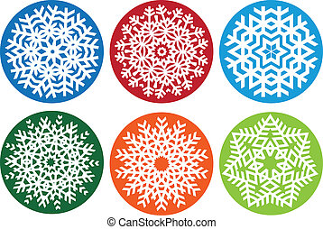 Snowflake set, vector