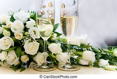 Celebration - Photo of two glasses full of champagne with...