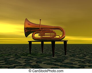 music and trumpet