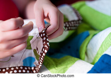 Quilt Sewing - sewing a quilt