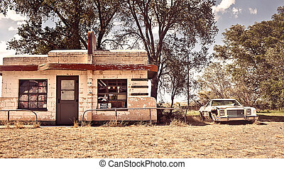 Abandoned restaraunt on route 66 in New Mexico - Abandoned...