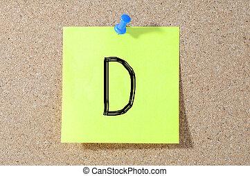 D grade written on a test paper.