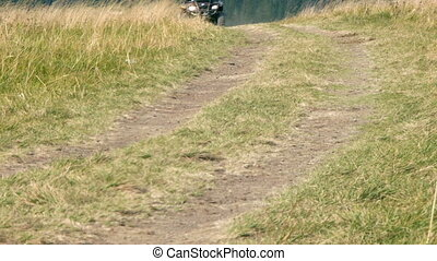 Quad bike cross country - View of ATV All Terrain Vehicles,...