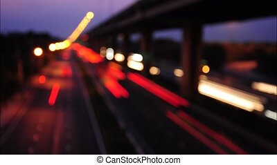 Traffic on the road,Time Lapse