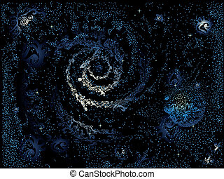abstract painted galaxy