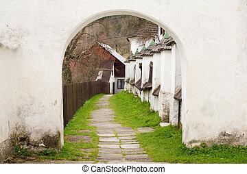White archway