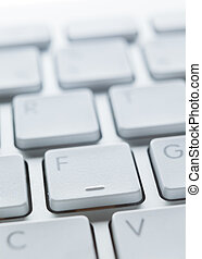 Close up of buttons of laptop keyboard - Close up of buttons...