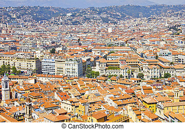 The city of Nice, south of France