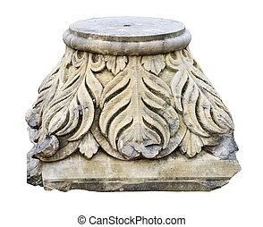 ornate base of a stone pillar - beautiful base of a stone...