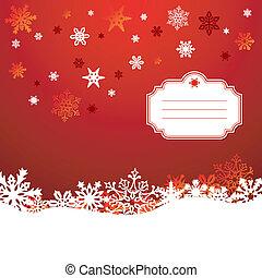 Snowflakes, Saudação, fundo, cartão, Natal