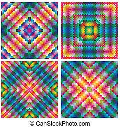 Set of antique art deco tiles