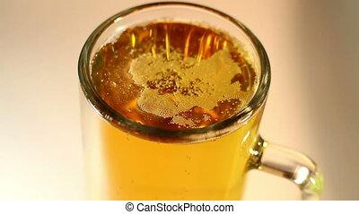 Beer Mug Macro Shot Closeup