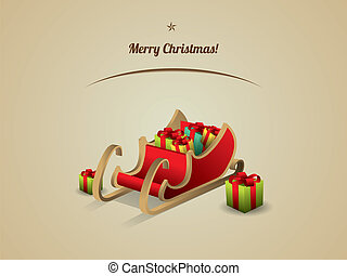 Santa sleigh with Gifts