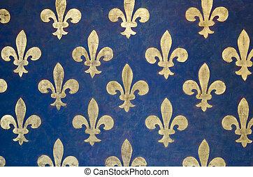 Fleur de lis wallpaper - Fleur-de-lis Pattern painted on a...