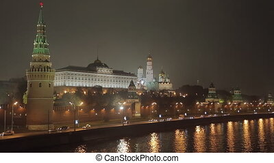 night Kremlin Embankment - night view on the Kremlin...